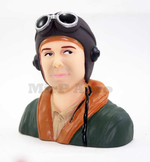 #202 WW2/Classic Era Pilot (H66 x W66 x D35mm)