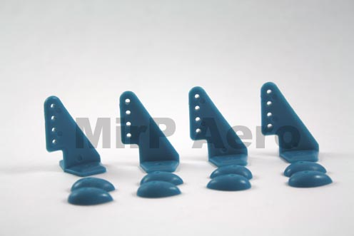 #A038B Control Horns 20x27mm (4pcs/set) Blue