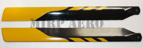 #BD001Y 325mm Glassfiber Blade for 450 Helicopter