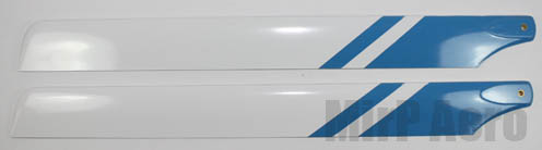 #BD002 325mm Glass Fiber Main Blades (Blue/white)