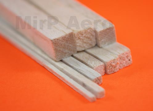 #BS03 Balsa Stik 3x3x910mm (10pcs)