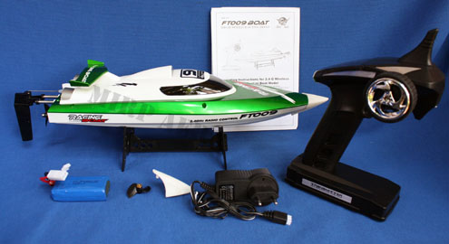 #BT009G Feilun FT009 2.4G 4CH Water Cooling R/C Boat (Green)