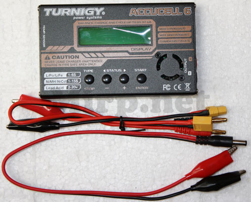 #CG006 Turnigy Accucel-6 50W 6A Balancer/Charger w/ accessories