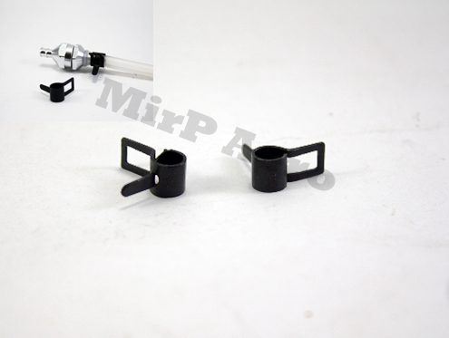 #EN02G Fuel Line Retaining Clips (Black) (2pcs)