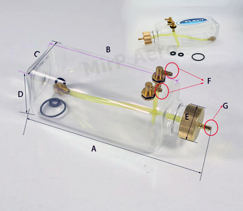 #FT500 Transparent Plastic Fuel Tank For Gasoline (500ml)