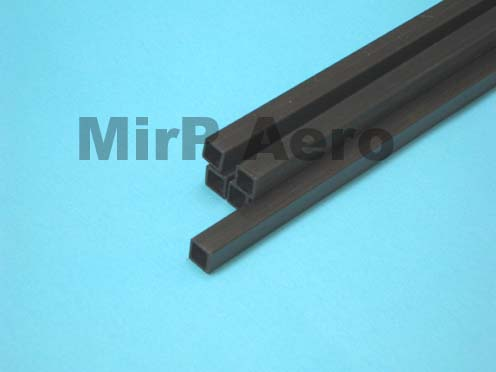 #CFS100 Carbon Fiber Square Tube 750x10,5mm