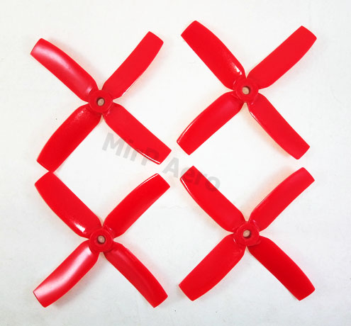 #PM01 Gemfan Master 4 Blade Bullnose 4x4 CodeRed (2L&2R)