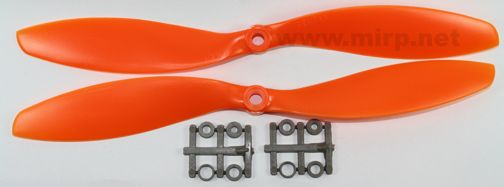 #PMO03 Gemfan 10x4.5 CW+CCW Orange