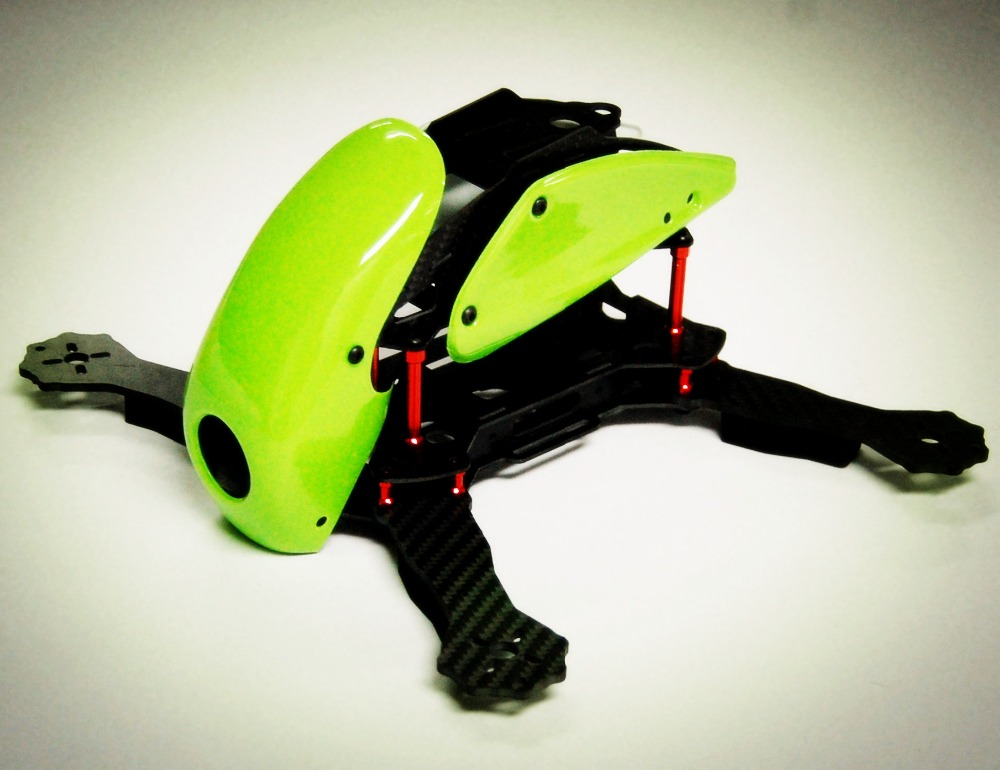#QD0-G RoboCat 270mm Carbon Fiber Quadcopter Frame (Green) - Click Image to Close