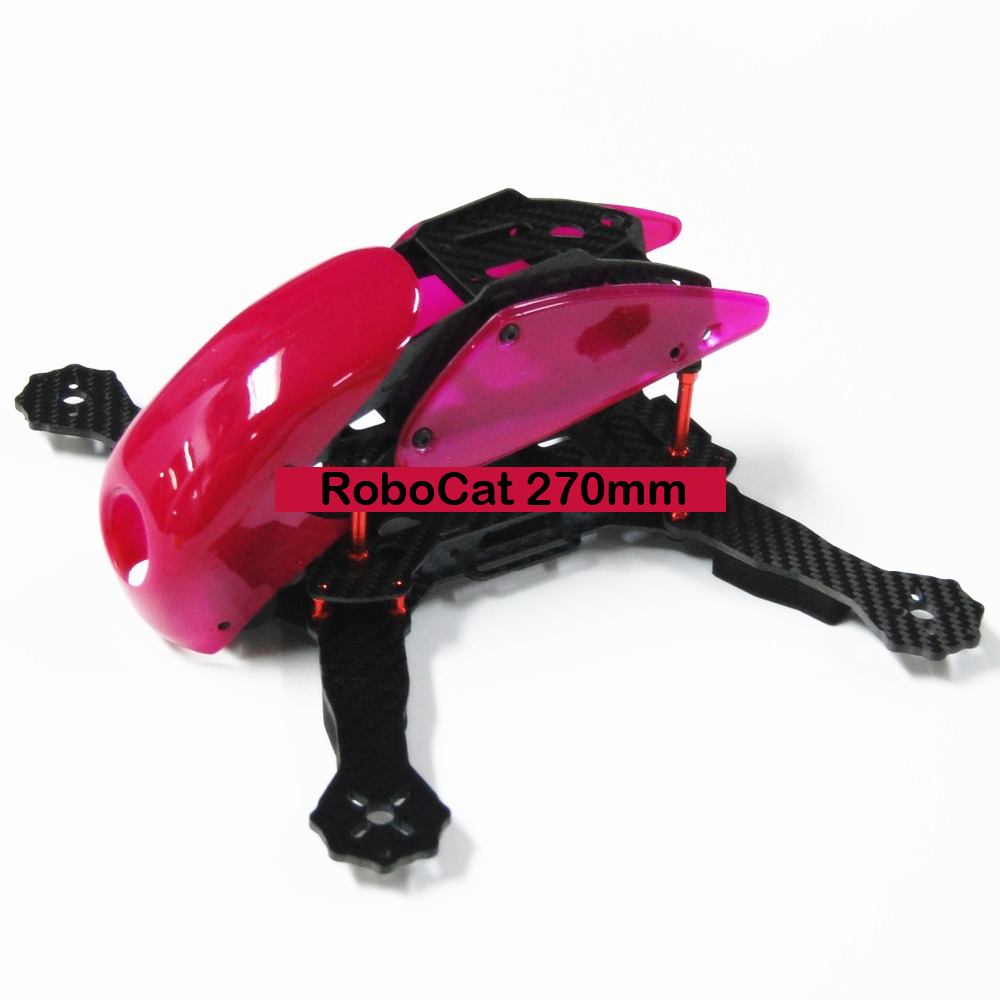 #QD0-R RoboCat 270mm Carbon Fiber Quadcopter Frame (Rose)