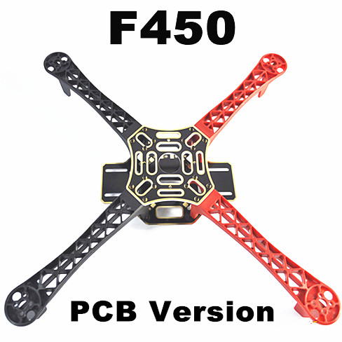 #QD3BR F450 Multi-Rotor Air Frame FlameWheel KIT (Black-Red)