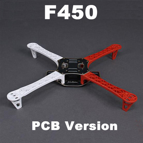 #QD3WR F450 Multi-Rotor Air Frame FlameWheel KIT (White-Red)