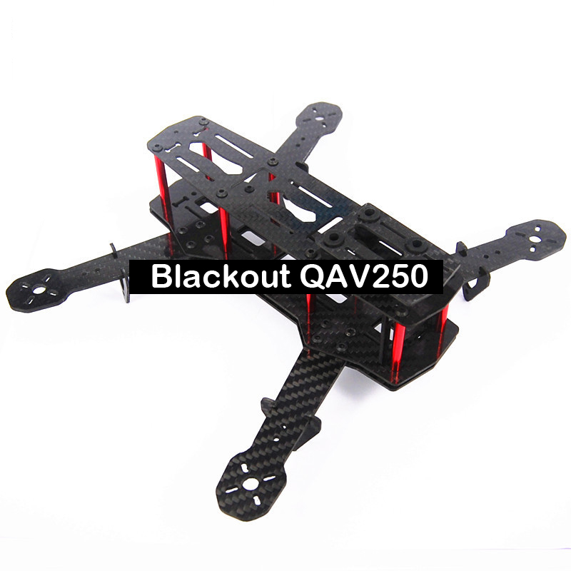 #QD7 Blackout QAV250 Carbon Fiber Mini 250 FPV Quadcopter Frame