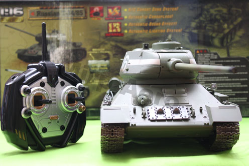 #RT-00807 1:16 Russia T-34 RTR R/C tank,infrared control,2.4 Ghz
