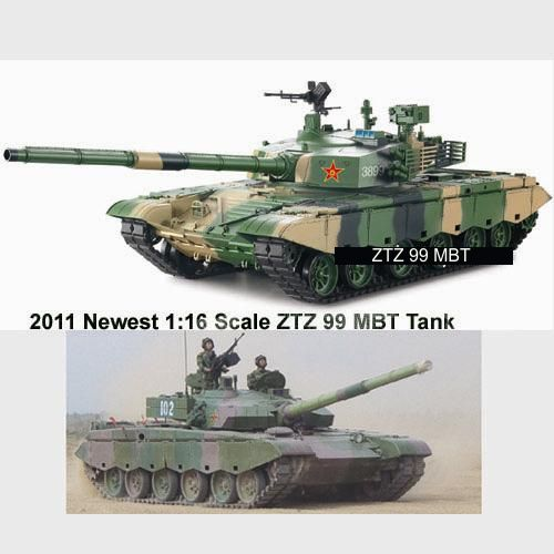 #RT-3899-1 2011 Newest 1:16 Scale ZTZ 99 MBT R/C Tank