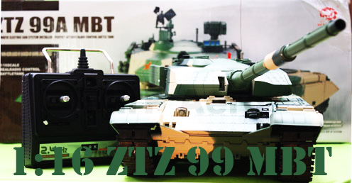 #RT-3899-1 Newest 1:16 Scale ZTZ 99A BMT R/C Tank with Smoke