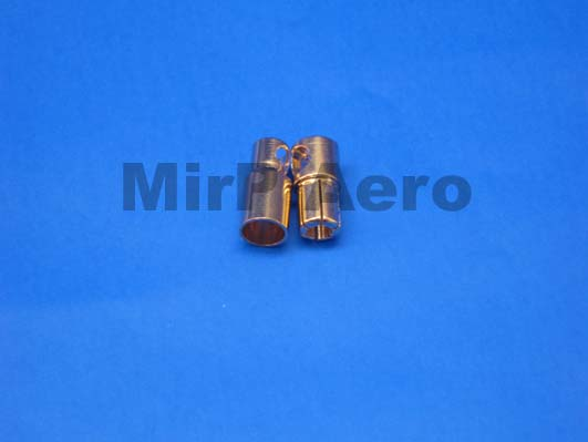 #BC005 Gold Connectors dia 6mm 1 pair