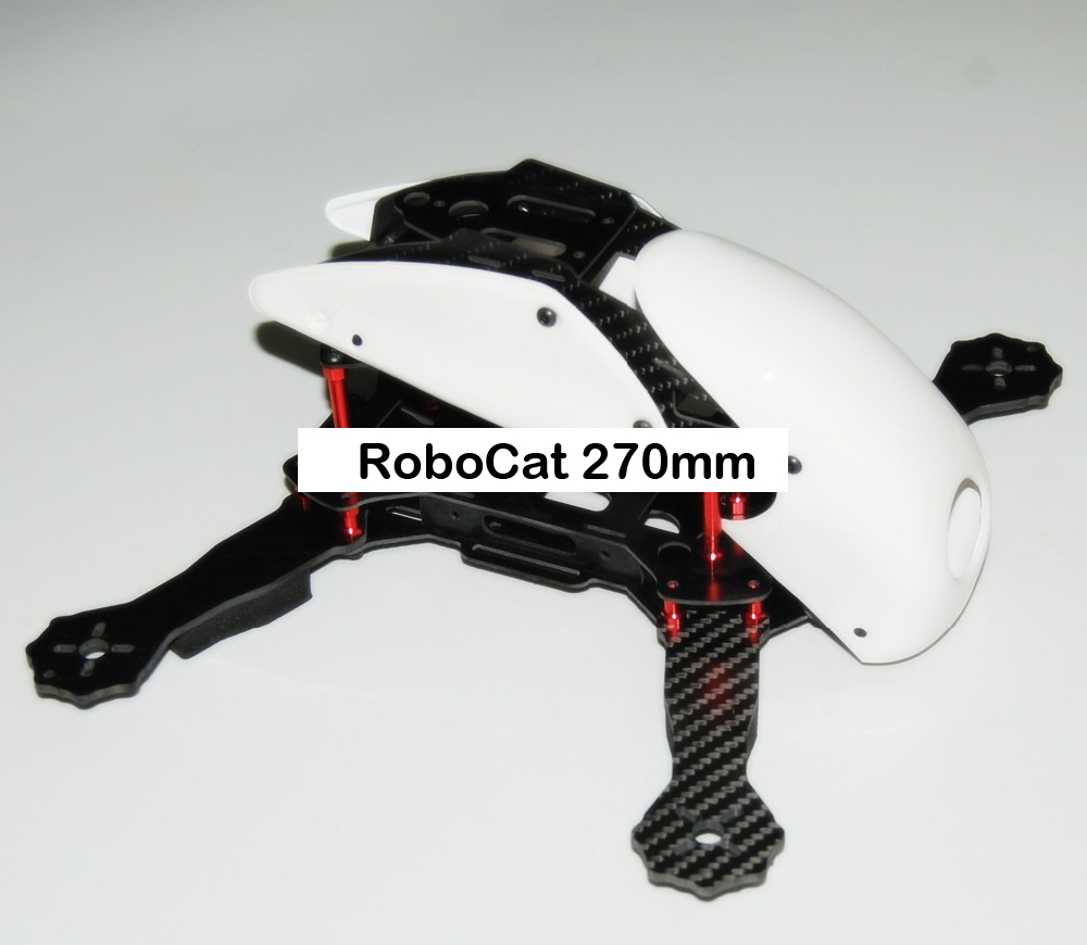 #QD0-W RoboCat 270mm Carbon Fiber Quadcopter Frame (White)