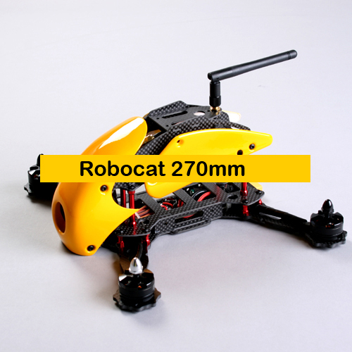 #QD0-Y RoboCat 270mm Carbon Fiber Quadcopter Frame (Yellow)