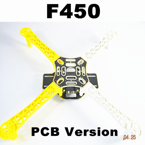 #QD3YW F450 Multi-Rotor Air Frame FlameWheel KIT (Yellow-White)